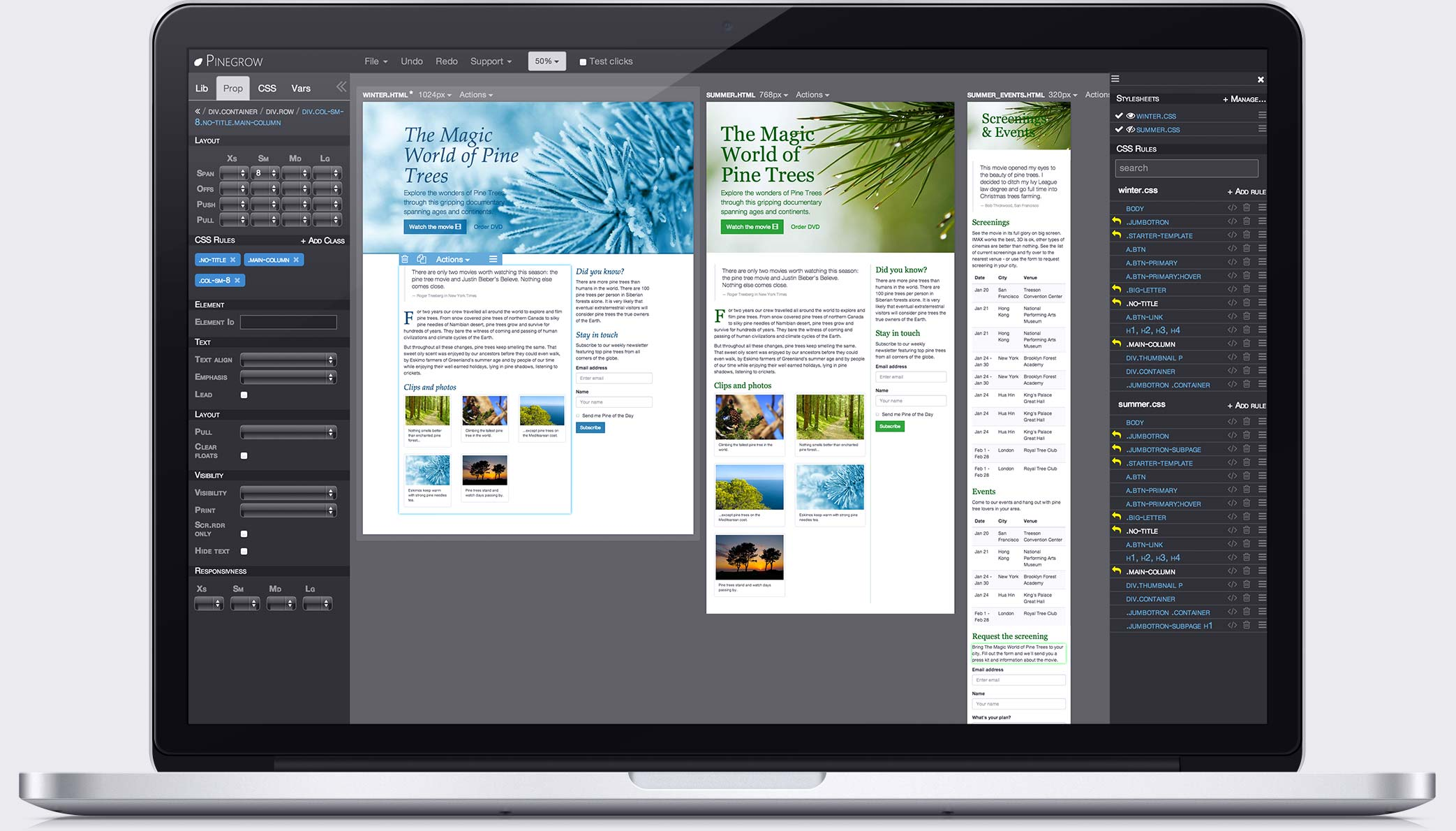 Pinegrow works on Mac, Windows and Linux