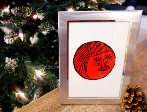 presente de natal, porta-retrato personalizado