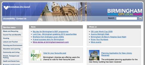 The new Birmingham City Council Website