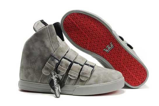 Mens Supra Strapped NS Shoes Grey