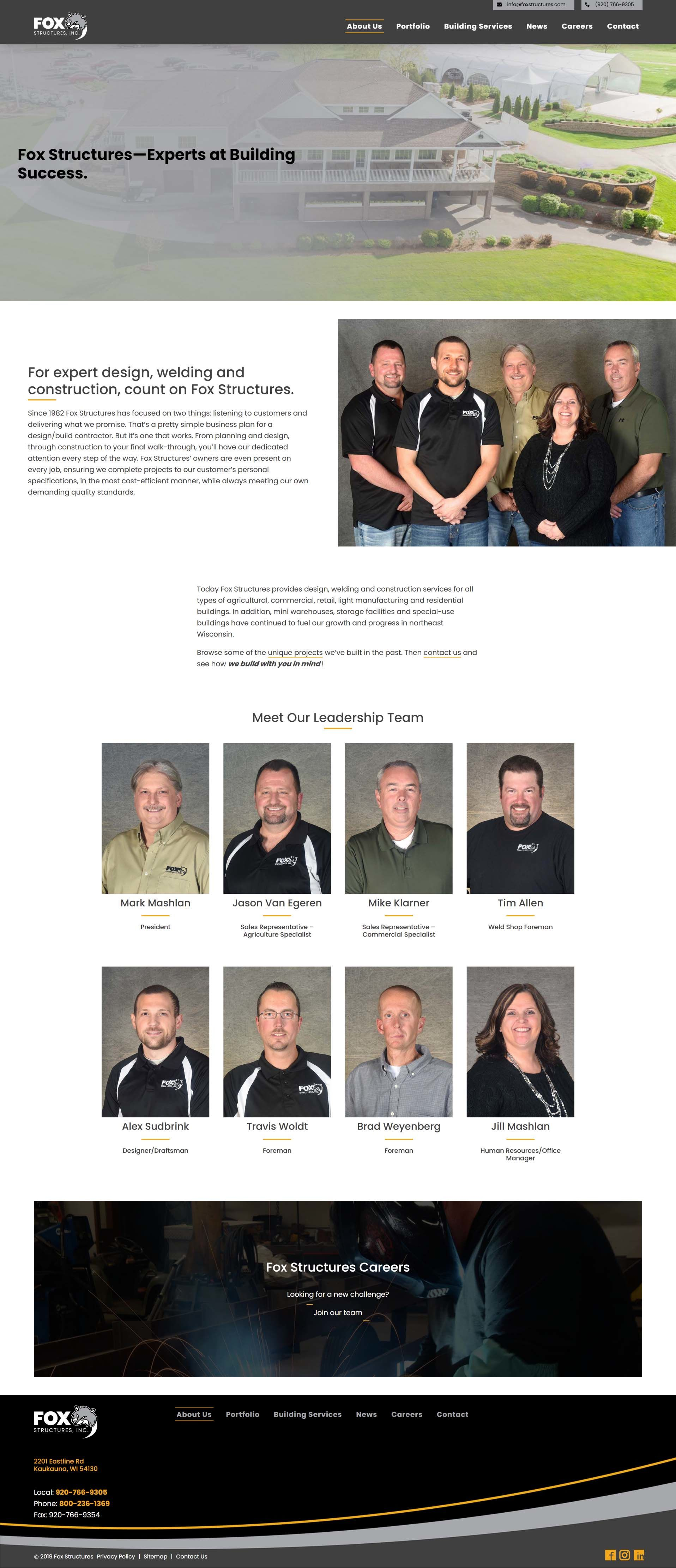 Fox Structures new Services Page
