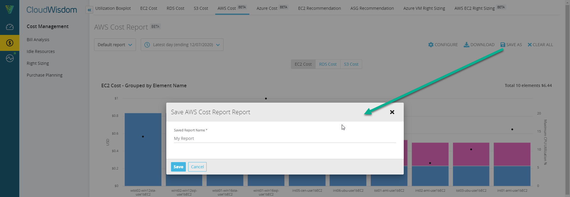 aws-cost-report-save-report