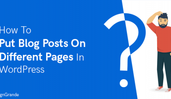 Thumbnail of How to Put Blog Posts on Different Pages in WordPress