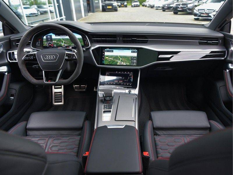 Audi RS7 Sportback 4.0TFSI 600pk Quattro Black Optic Laser-Led Softclose Head-Up Leder-dash RS-Zetels 22-Inch 360Camera afbeelding 19
