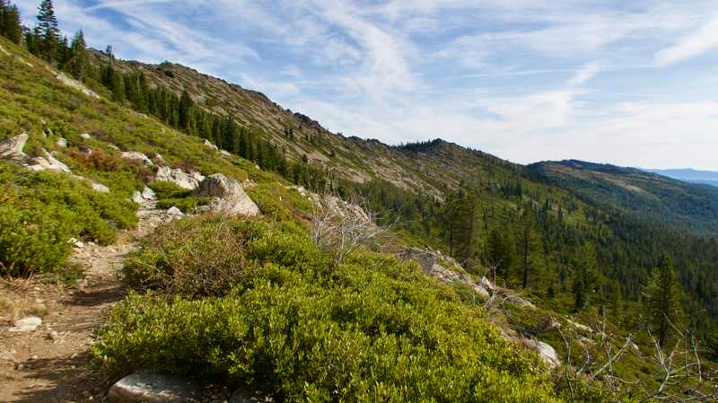 The trail followed a long ridge