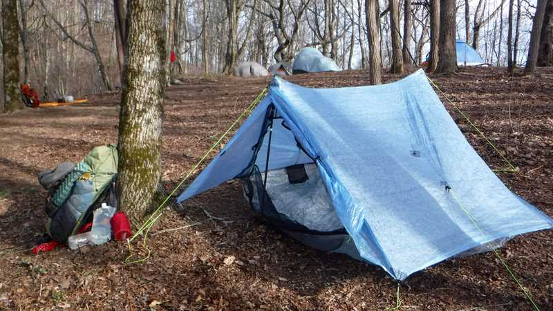 Tent in camp