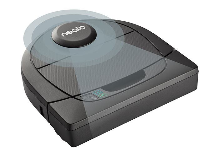One of the nifty Neato vacuum robots