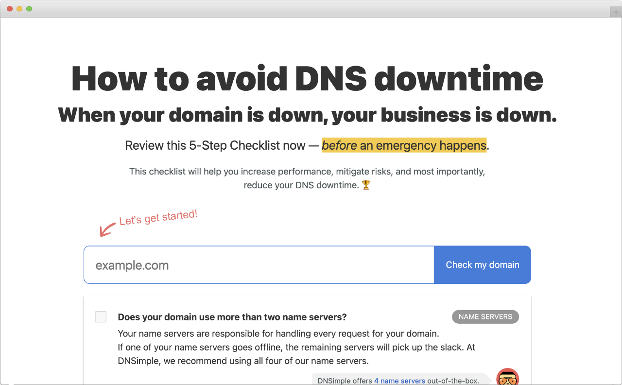 Avoid DNS Downtime