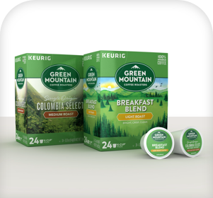 Green Mountain single serve K-Cups from Standard Coffee Service