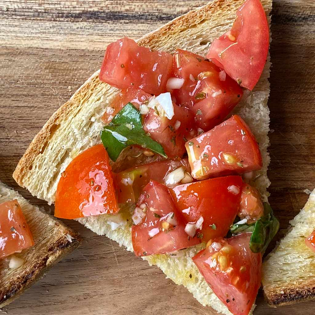 appetizers: crostone bruschetta