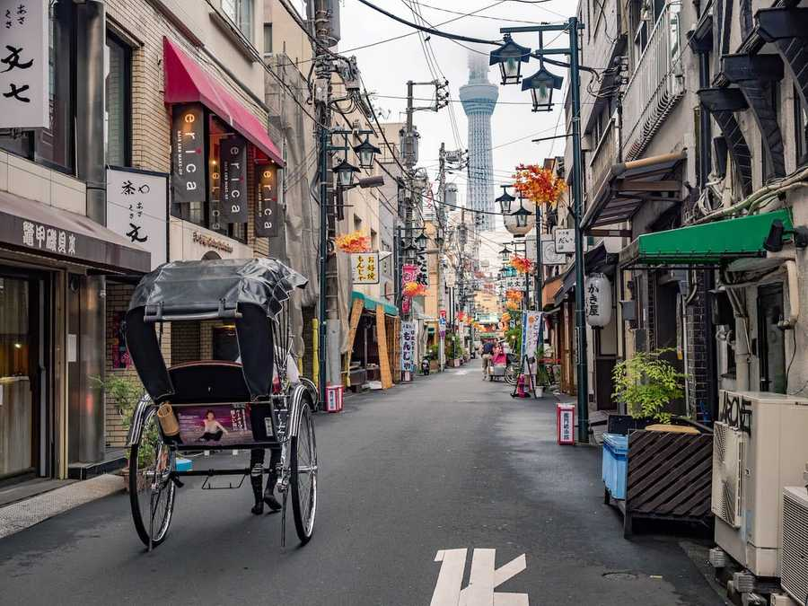 Slower and clean streets in Asakusa