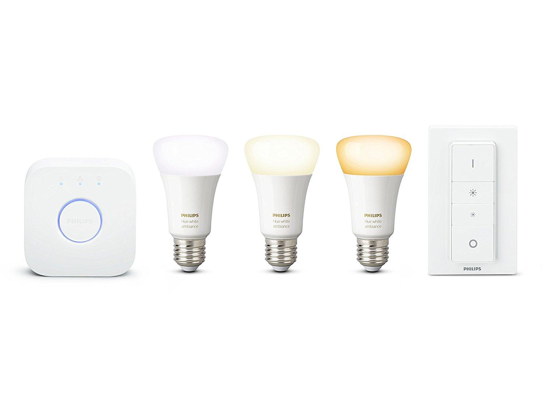 Kit de démarrage 3 ampoules White Ambiance + pont de connexion + télécommande