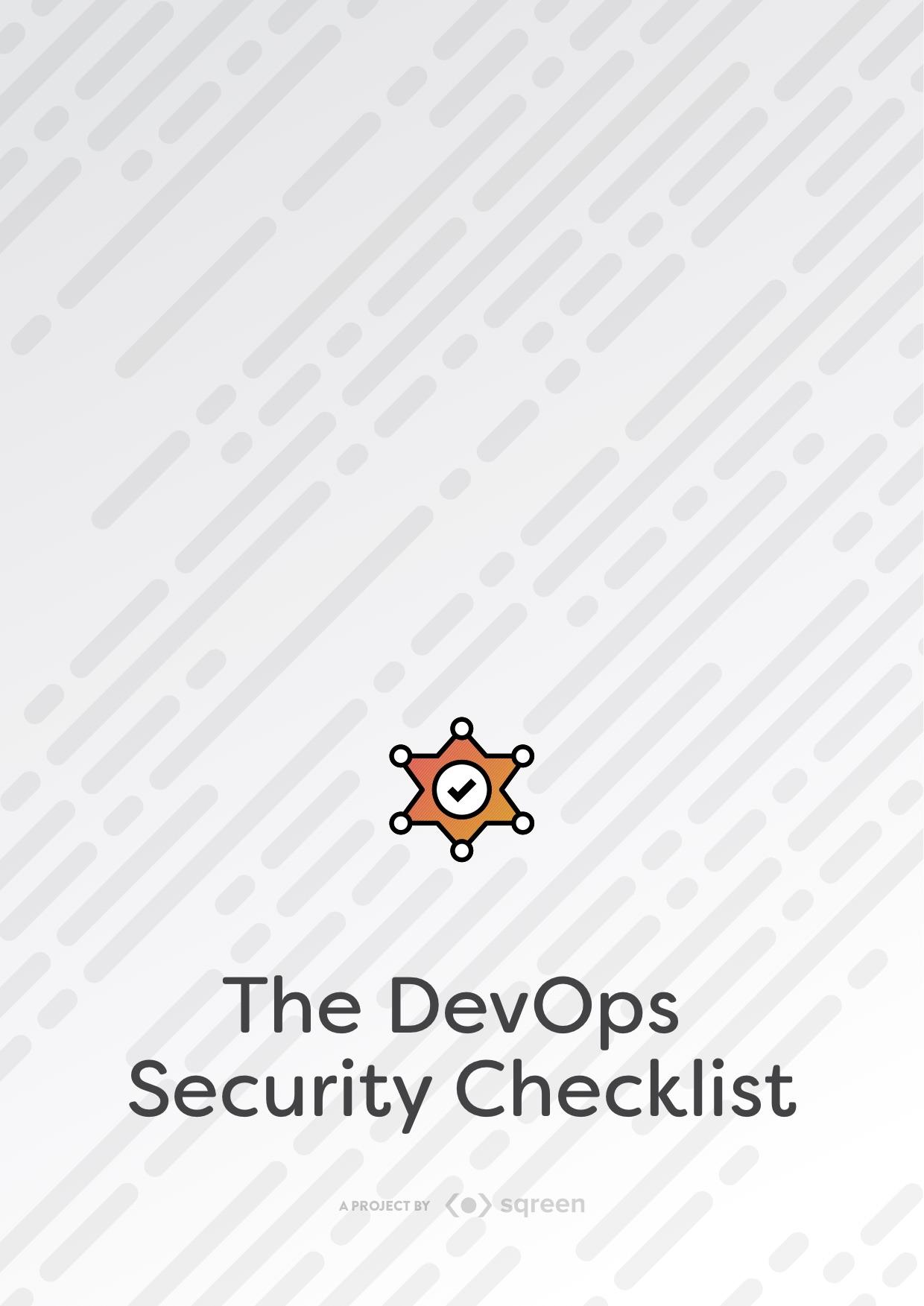 The DevOps Security Checklist Checklist