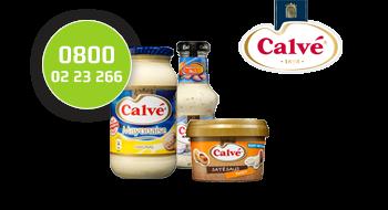 Calvé gebruikt een 0800-nummer.