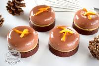 Orange Chocolate Entremet Tart