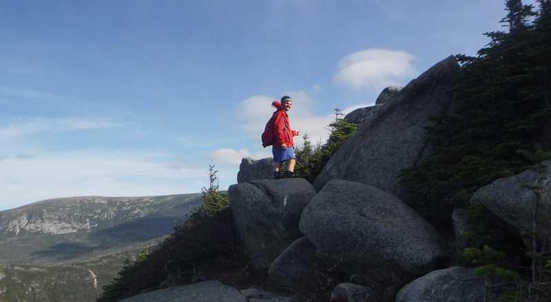Boomer goes up Mt. Katahdin
