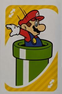 Super Mario Yellow Uno Reverse Card