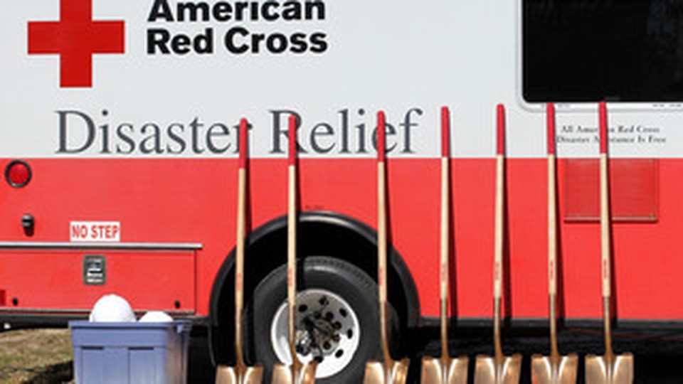Am ambulance from the American Red Cross - Disaster Relief