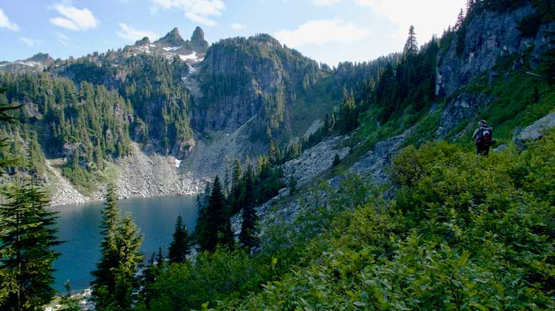 Overlooking Trap Lake
