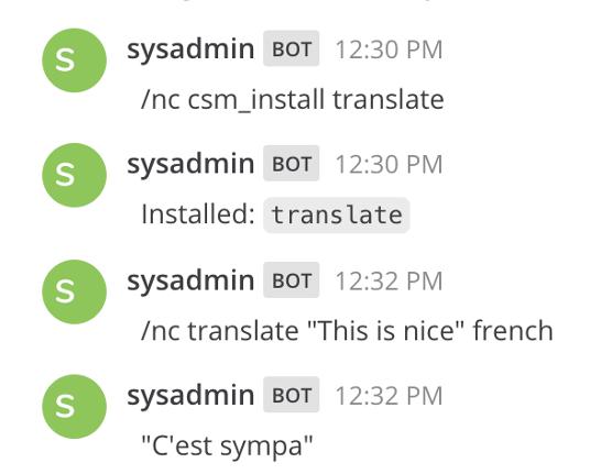 csm install translate