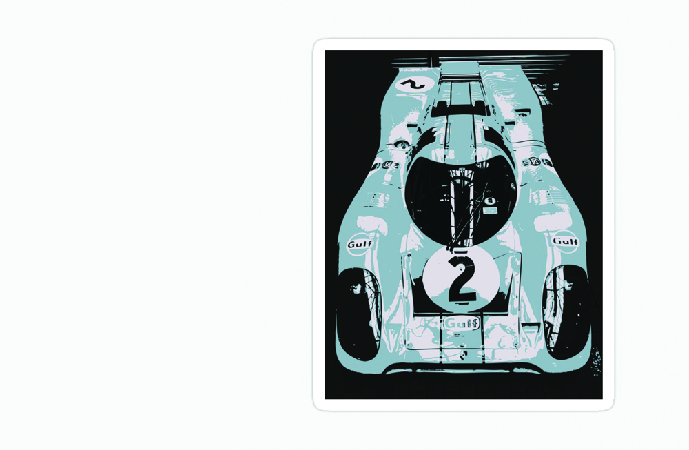 Porsche 917K Sticker by thespeedart