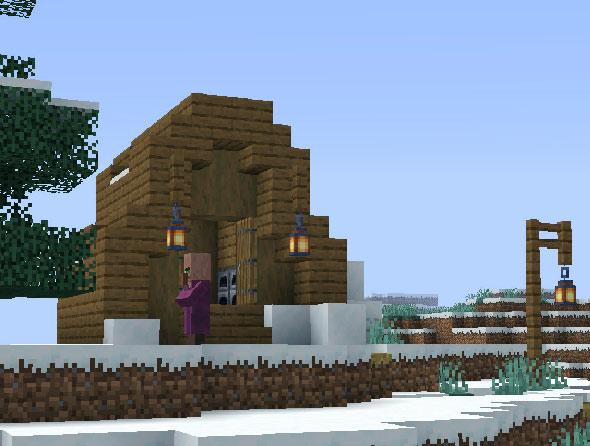 Minecraft snow village seed