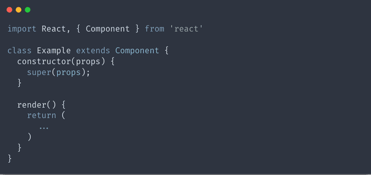 Creating a constructor in a class component