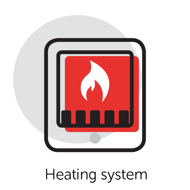 Graphical Icon of a Heater