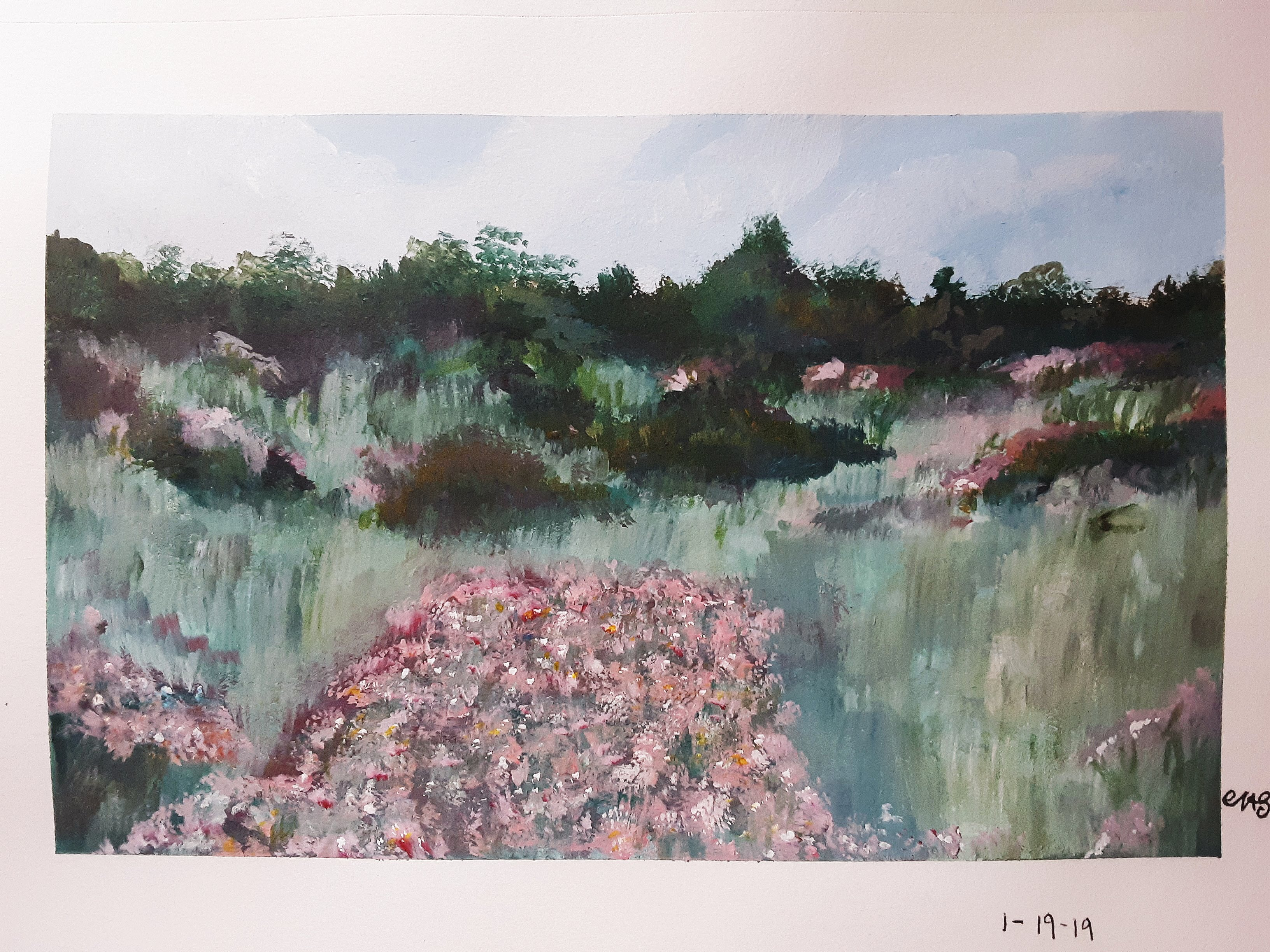 Field of Flowers - Inspired by Monet