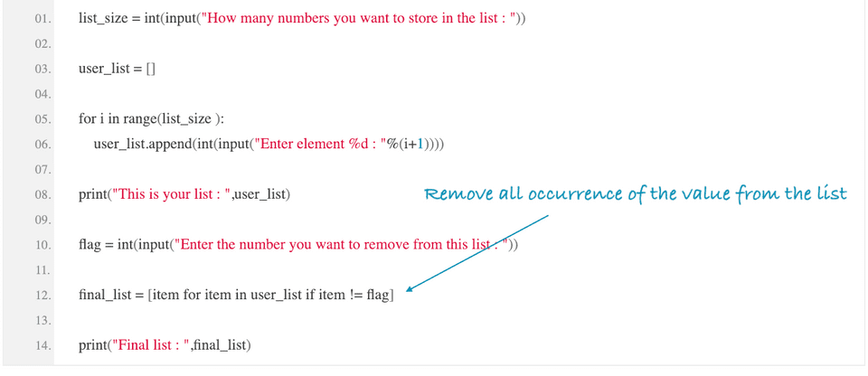 python remove all occurrence value from list