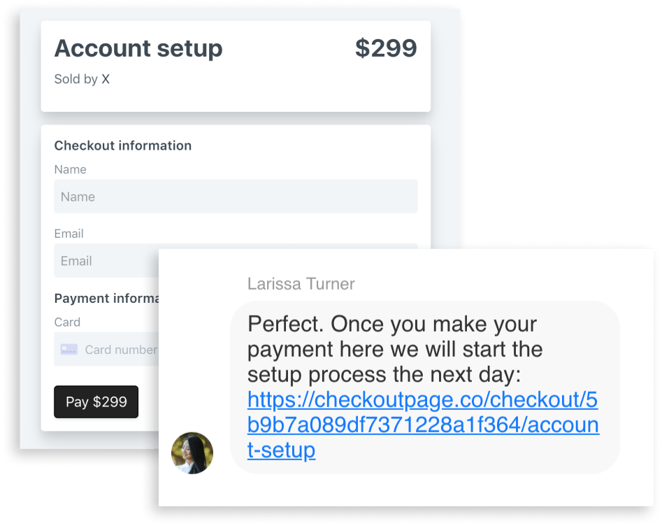 Support chat payments