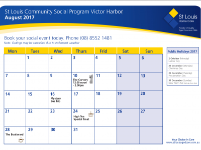August Community Social Program Victor Harbor