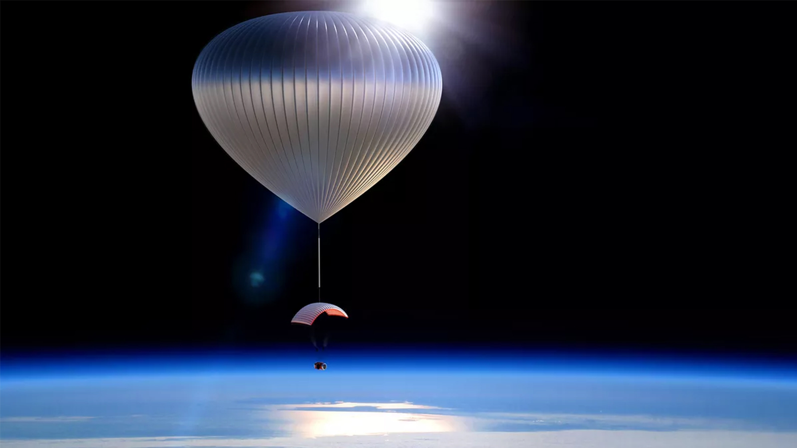balloon in stratosphere