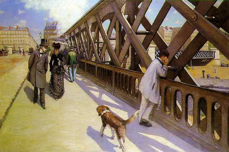 'Le pont de l'Europe', by Gustave Caillebotte (1848–1894) in c. 1876, oil on canvas