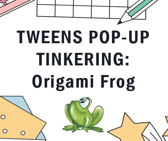 Origami frog image