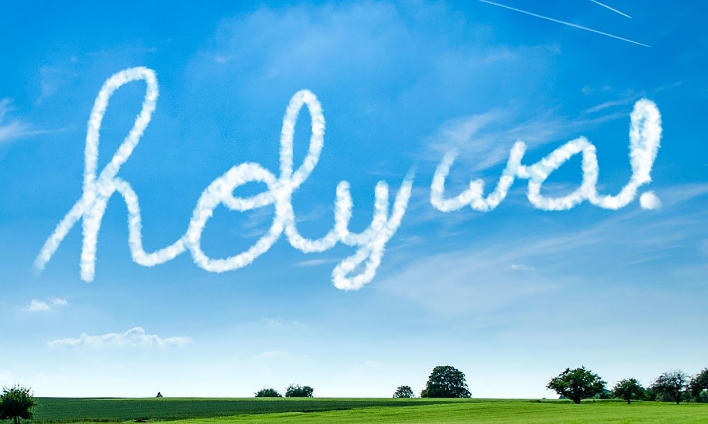 Image of holy wa skywriting