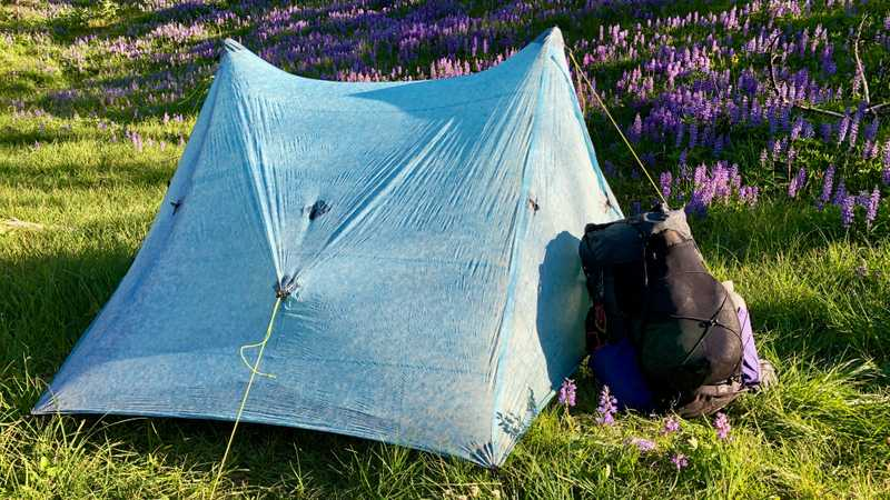 Zpacks Duplex tent and Superior Wilderness Designs Long Haul pack