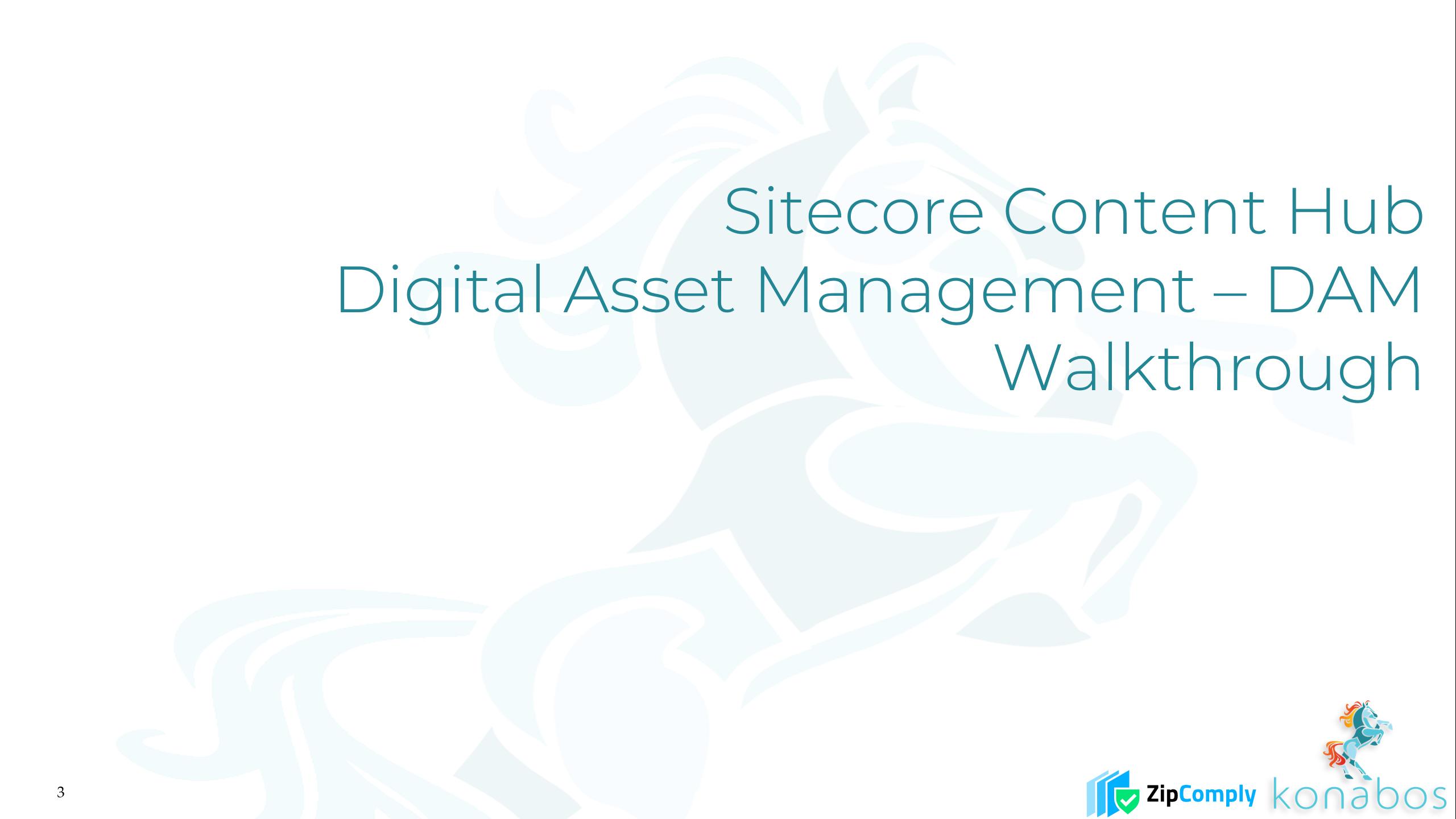 Sitecore Content Hub - Digital Asset Management - DAM - Walkthrough