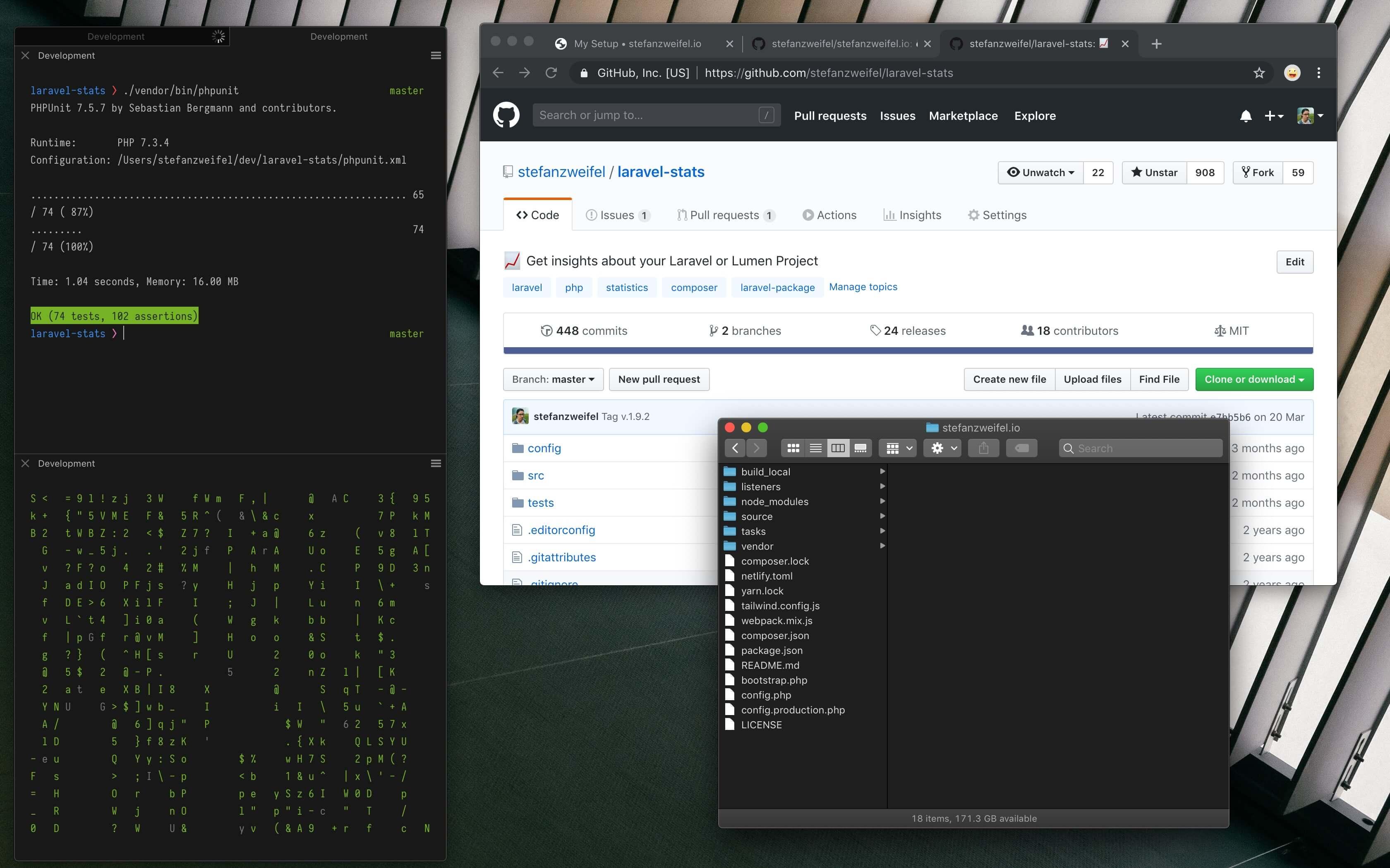 Screenshot of macOS