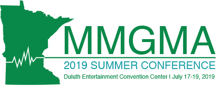 Minnesota Medical Group Management Association 2018 Summer Conference Logo. DECC - July 17-19, 2019