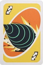 Incredibles 2 Yellow Uno Reverse Card