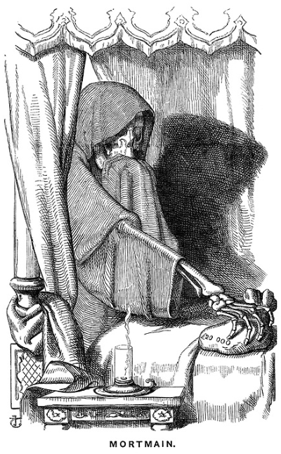 Grim Reaper in Bed Sketch