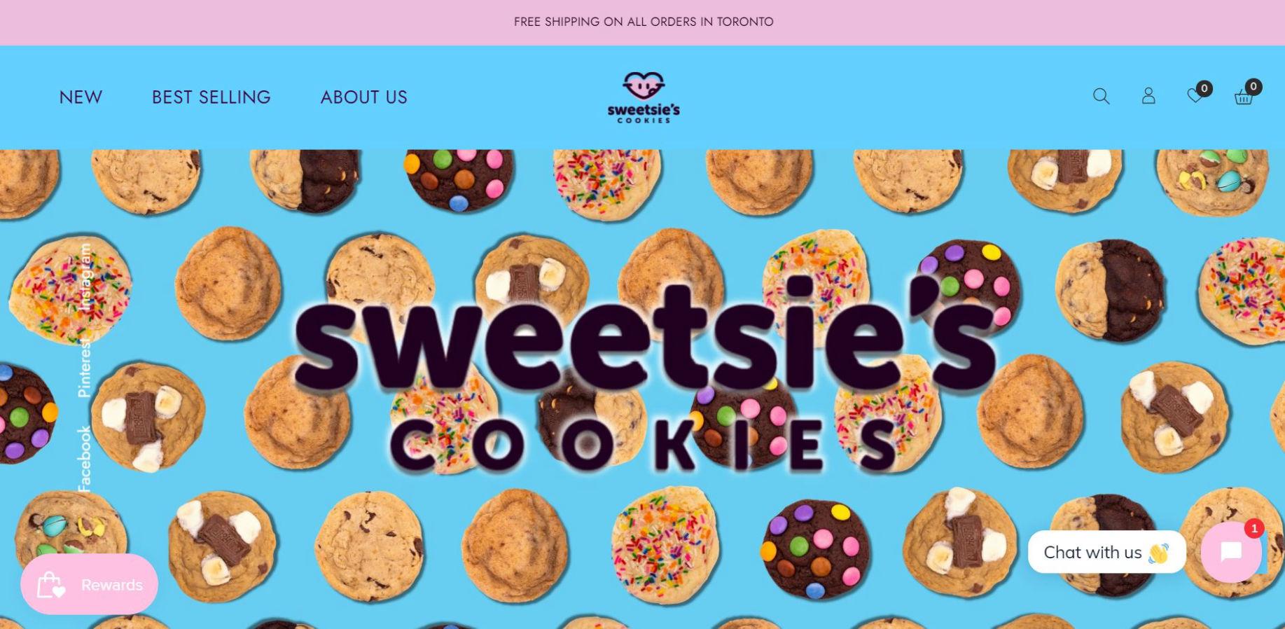 Sweetsies Cookies Website and Marketing