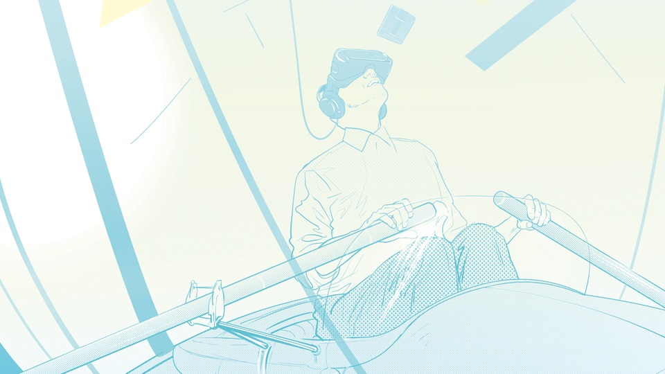 Lost in virtual reality, illustration