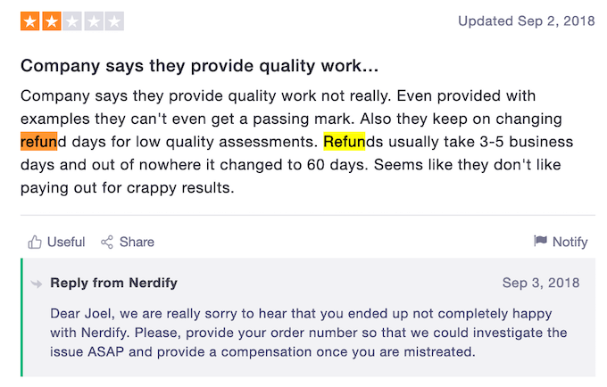 gonerdify.com has refunds issues
