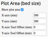 screenshot of plot area settings