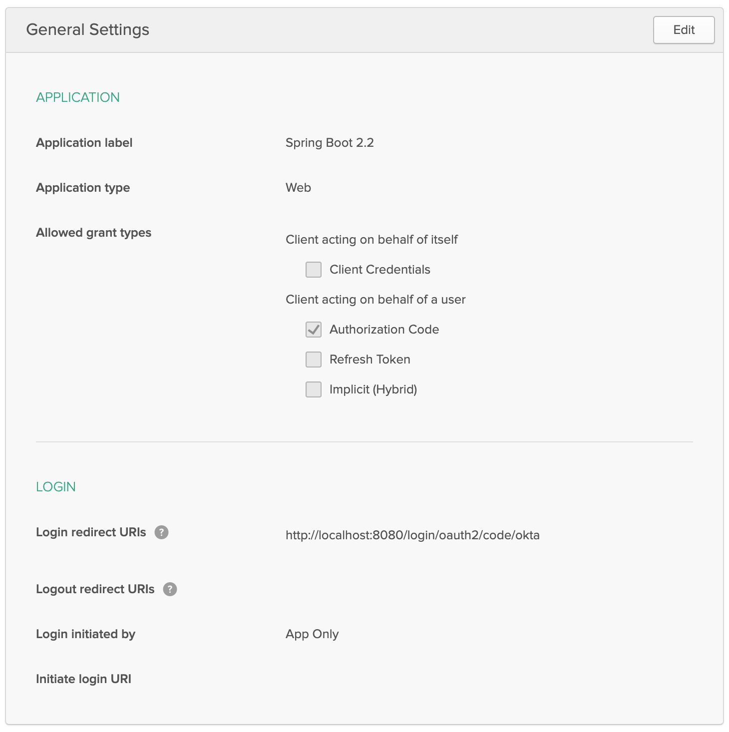 Spring Boot OIDC Settings