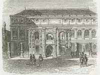 The Courtyard of the Ecole des Beaux Arts in 1860