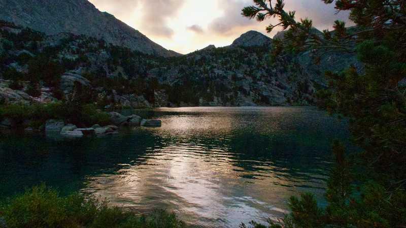 Rae Lakes at dawn