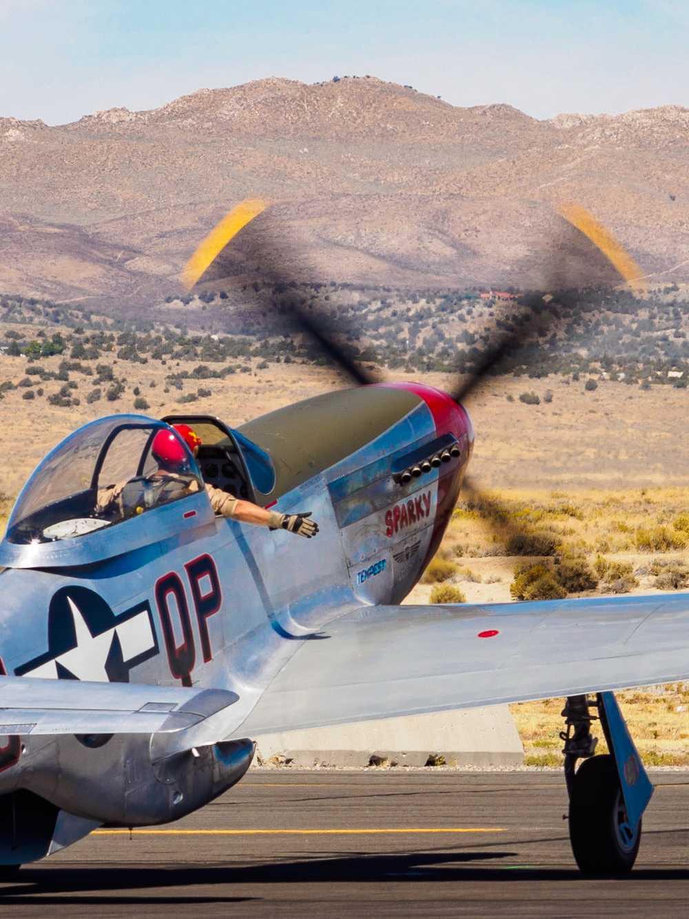P-51D Sparky warming up